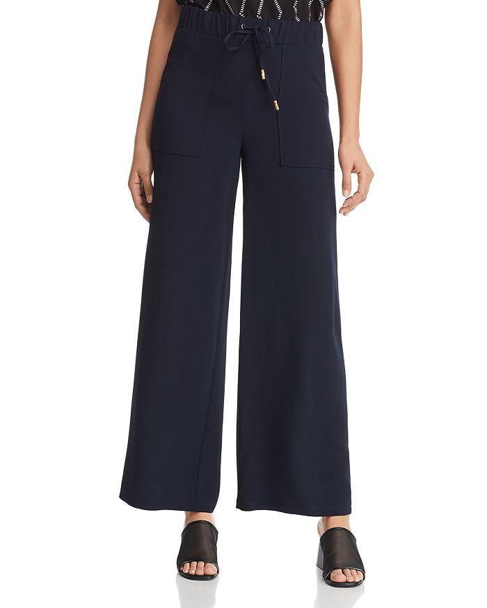 Donna Karan - Drawstring Wide-Leg Pants