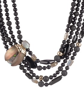 Alexis Bittar - Beaded Bib Necklace, 20""