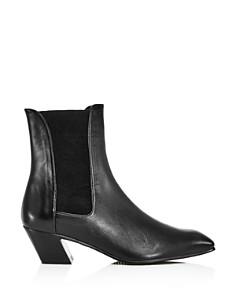 Stuart Weitzman - Women's Cleora Snake-Print Ankle Booties