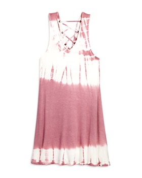 Vintage Havana - Girls' Tie-Dyed Lace-Up Dress - Big Kid