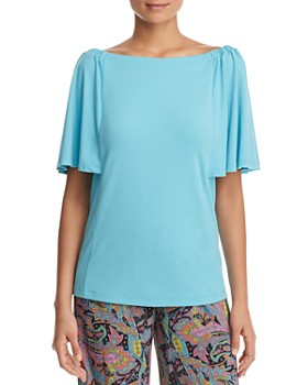 Le Gali - Blair Off-the-Shoulder Flutter-Sleeve Top - 100% Exclusive