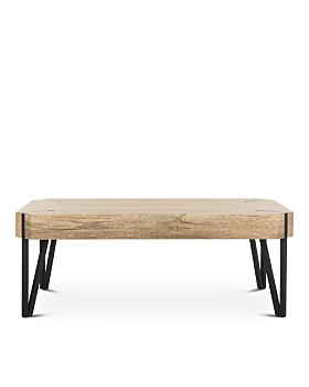SAFAVIEH - Liann Rustic Mid-Century Wood Top Coffee Table