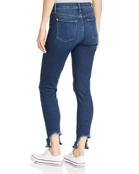 7 For All Mankind - Step-Hem Distressed Ankle Skinny Jeans