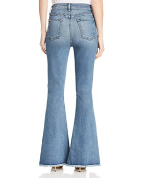 7 For All Mankind - Exaggerated Kick Slit-Hem Jeans in Luxe Vintage Muse