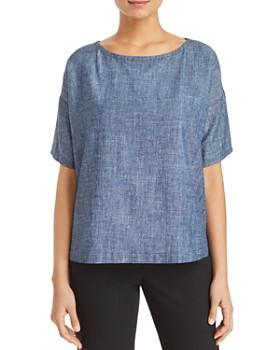Eileen Fisher Petites - Short-Sleeve Top