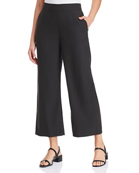 Eileen Fisher - Wide-Leg Cropped Pants