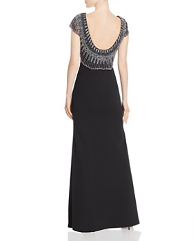 Aidan Mattox - Embellished Scoop-Back Gown
