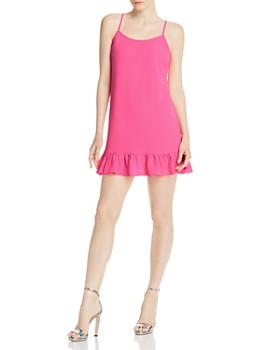 AQUA - Flounce-Hem Mini Dress - 100% Exclusive