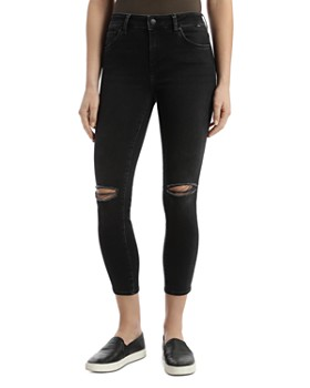 Mavi - Tess Cropped Vintage Jeans in Dark Smoke