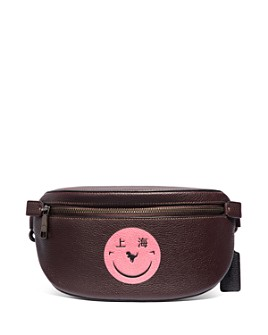 COACH - Smiley Face Leather Belt Bag