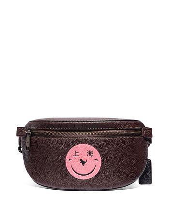 COACH - Smiley Face Leather Belt Bag