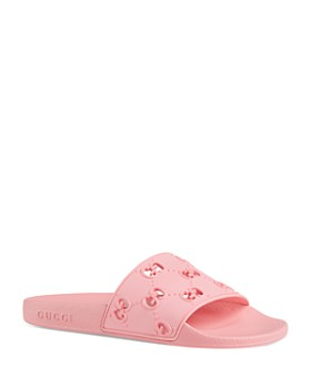 f63c48c8b Gucci - Women's Pursuit Rubber GG Pool Slides ...