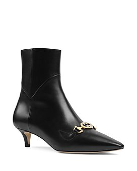 Gucci - Women's Zumi Leather Ankle Boots