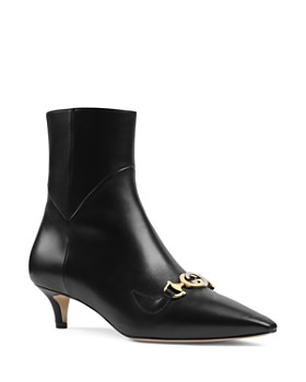 2d71c0302a7a Gucci - Women s Zumi Leather Ankle Boots ...