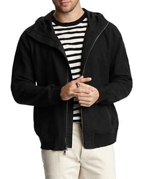 John Varvatos Collection - Regular Easy Fit Hooded Slub Jacket