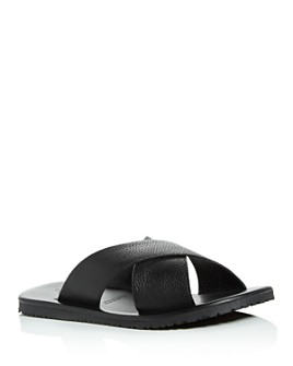 The Men's Store at Bloomingdale's - Men's Leather Crisscross Slide Sandals - 100% Exclusive