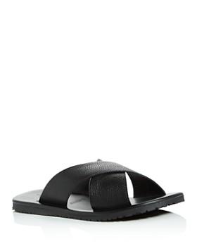 ef76fd8ca The Men's Store at Bloomingdale's - Men's Leather Crisscross Slide Sandals  - 100% Exclusive ...
