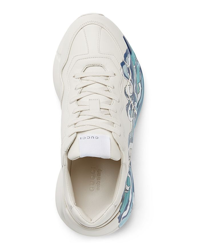 f04510550 Gucci - Women s Rhyton Leather Sneakers with Wave