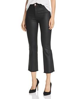 DL1961 - DL1961 x Marianna Hewitt Bridget Coated High-Rise Crop Boot Jeans