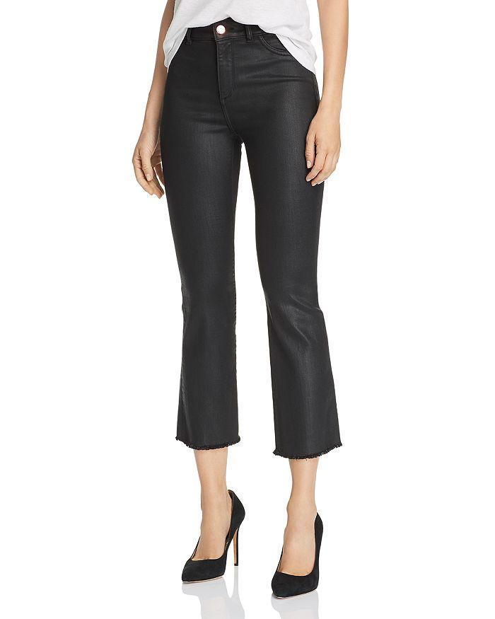 DL1961 - x Marianna Hewitt Bridget Coated High-Rise Crop Boot Jeans
