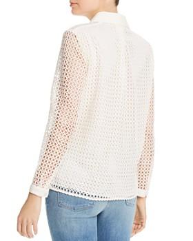 Joie - Merredin Crochet Button-Down Blouse