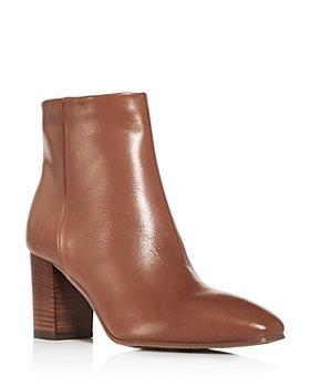Aquatalia - Women's Florita Weatherproof Square-Toe Block-Heel Booties
