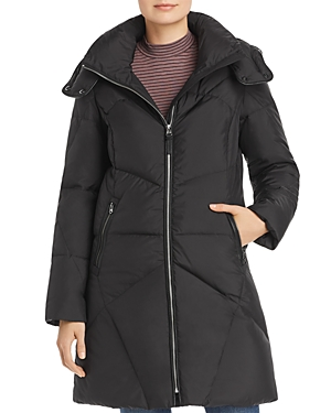 Cole Haan Hooded Mid-Length Puffer Coat