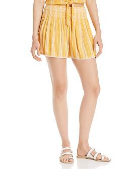 AQUA - Striped Smocked-Waist Shorts - 100% Exclusive