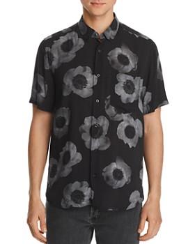 HUGO - Ekilio Short-Sleeve Floral-Print Slim Fit Button-Down Shirt