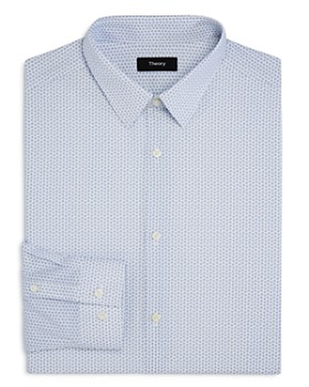 Theory - Square-Print Slim Fit Dress Shirt