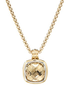 David Yurman - Sterling Silver & 18K Yellow Gold Albion Champagne Citrine Pendant