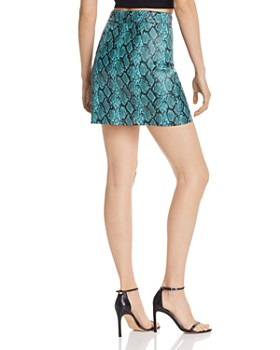 Tiger Mist - Tash Snake Print Faux-Leather Skirt