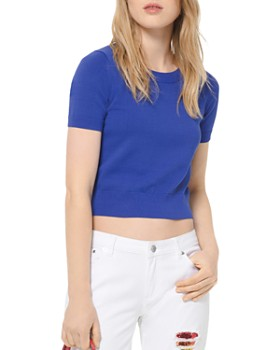 MICHAEL Michael Kors - Cropped Stretch Tee