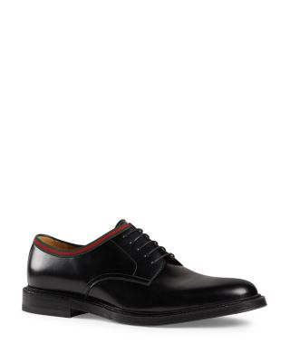 Gucci Men's Leather Lace-Up Oxfords