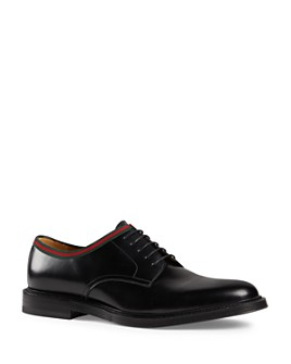 Gucci - Men's Leather Lace-Up Oxfords