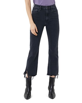 3x1 - Empire Frayed Crop Flare Jeans in Starling