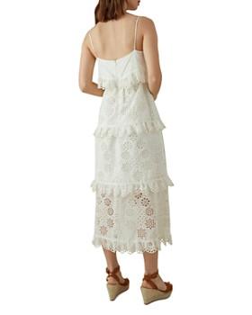 KAREN MILLEN - Ruffled Eyelet Midi Dress