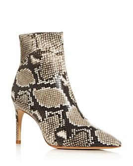 Sophia Webster - Women's Rizzo 85 Snake-Embossed High-Heel Booties