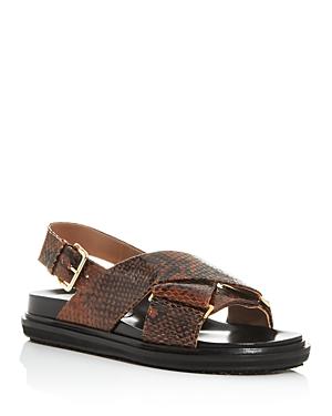 Marni Women\\\'s Fussbett Woven Slingback Platform Sandals