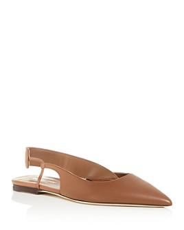 Burberry - Women's Maria Slingback Pointed-Toe Flats