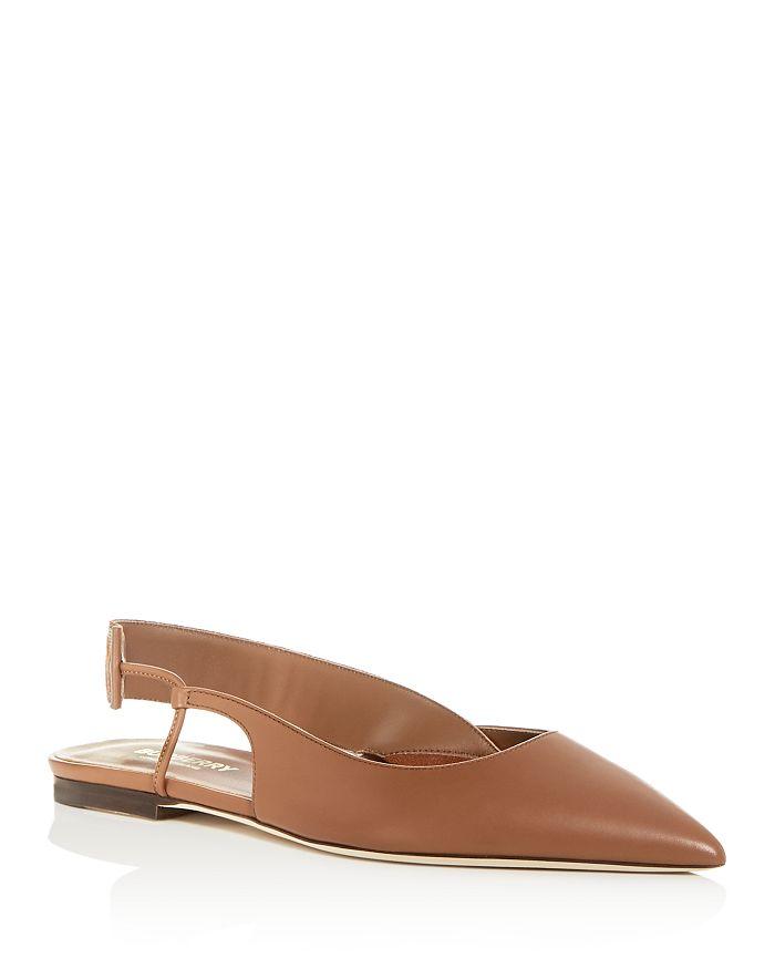 Burberry - Women's Maria Slingback Pointed-Toe Flats