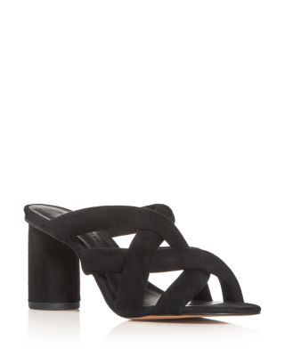 Amandine High-Heel Slide Sandals