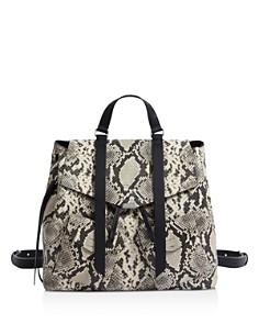 ALLSAINTS - Sliver Snake-Print Backpack