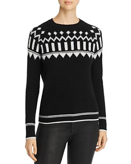 C by Bloomingdale's - Fair Isle Cashmere Sweater - 100% Exclusive