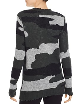 AQUA - Camo Jacquard Cashmere Sweater - 100% Exclusive