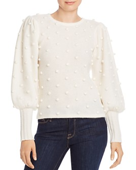 AQUA - Puff-Sleeve Popcorn Cashmere Sweater - 100% Exclusive
