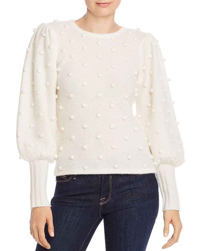 AQUA - Puff-Sleeve Popcorn Cashmere Sweater - 100% Exclusive