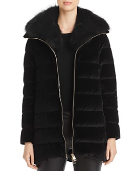 Herno - Fur-Collar Velvet Down Coat - 100% Exclusive