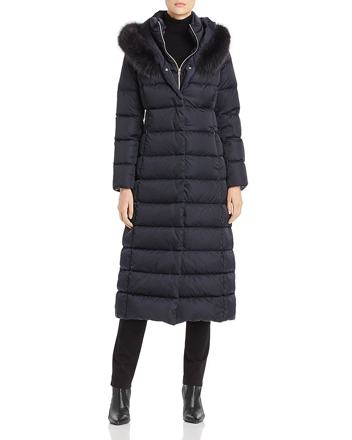 Herno - Fur-Trim Maxi Down Coat