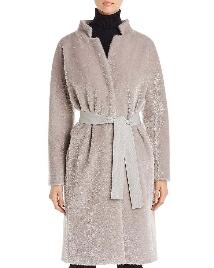Herno - Belted Faux Fur Coat